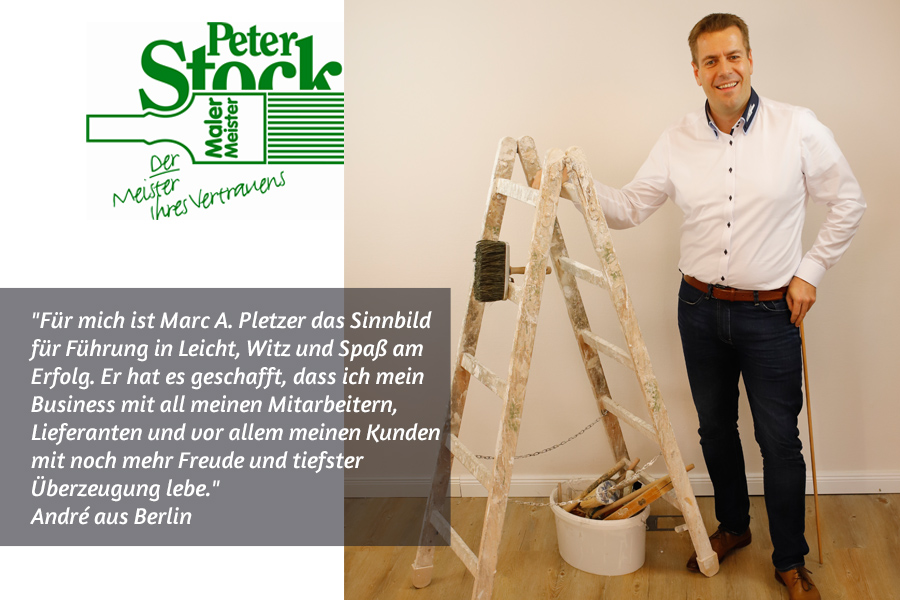 Malermeister Peter Stock über Boosta